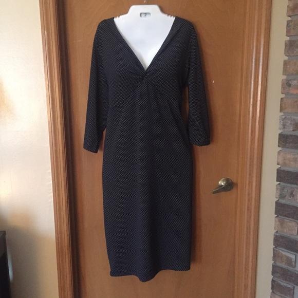 Plus Size Black & White Polka Dot Dress NWT